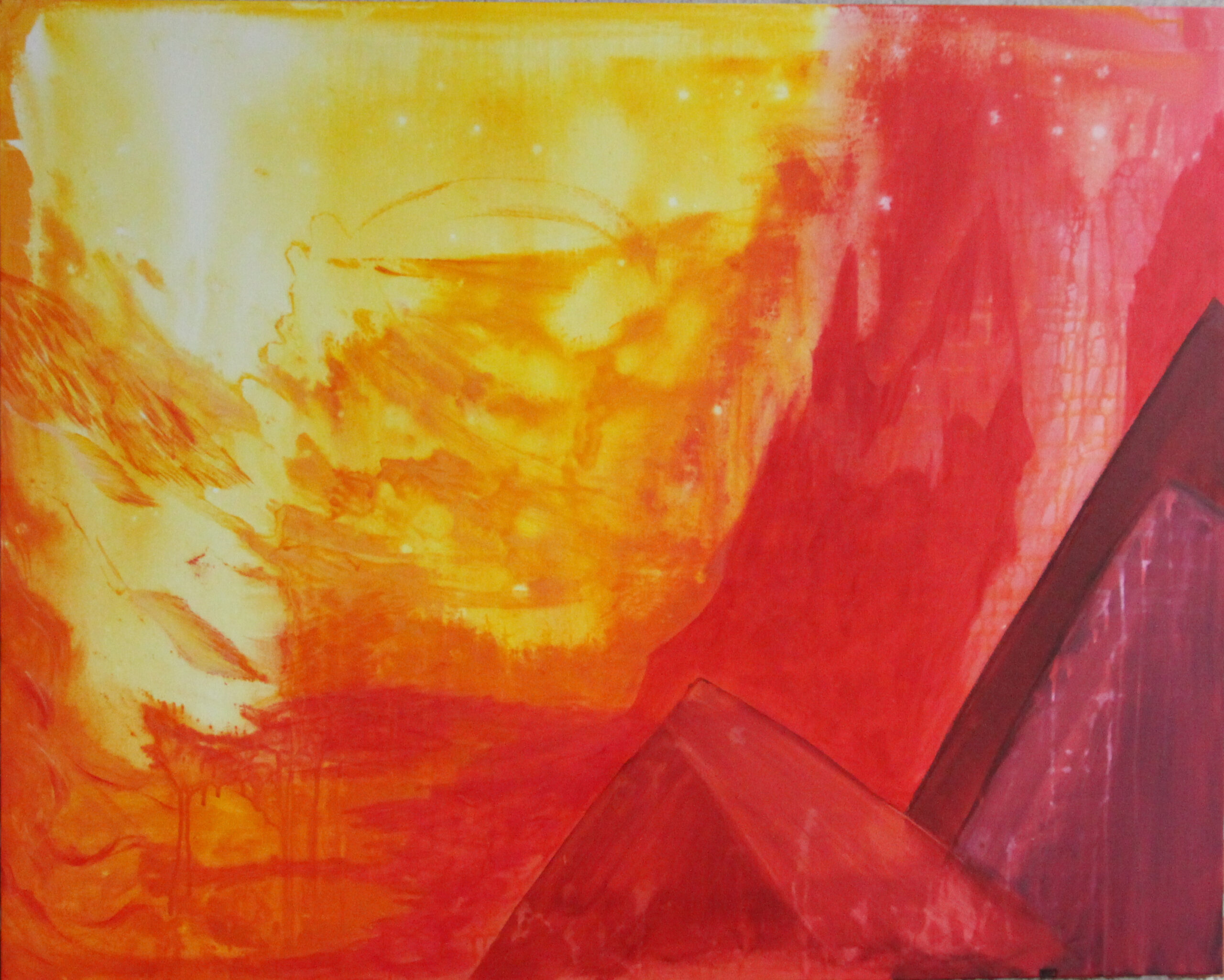 Red Painting acrylic on canvas